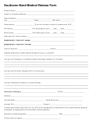 Southaven Band Medical Release Form