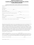 Tredyffrin-easttown Youth Soccer Associaton Medical Release Form