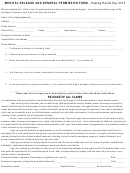 Medical Release And General Permission Form