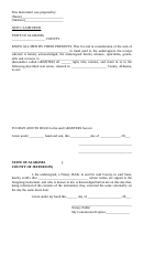 Quit Claim Deed Form