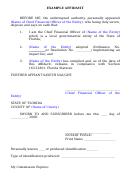 Example Affidavit Form