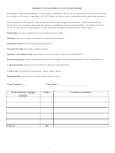 Project Team Peer Evaluation Form