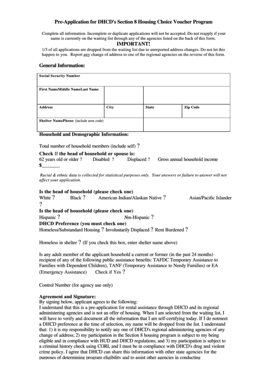 Top 9 Section 8 Application Form Templates free to download in PDF ...