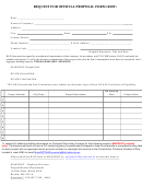Request For Official Proposal Form