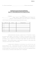 Application Form For Inspection/obtaining Copy Of