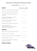 Powerpoint Presentation Evaluation Sheet