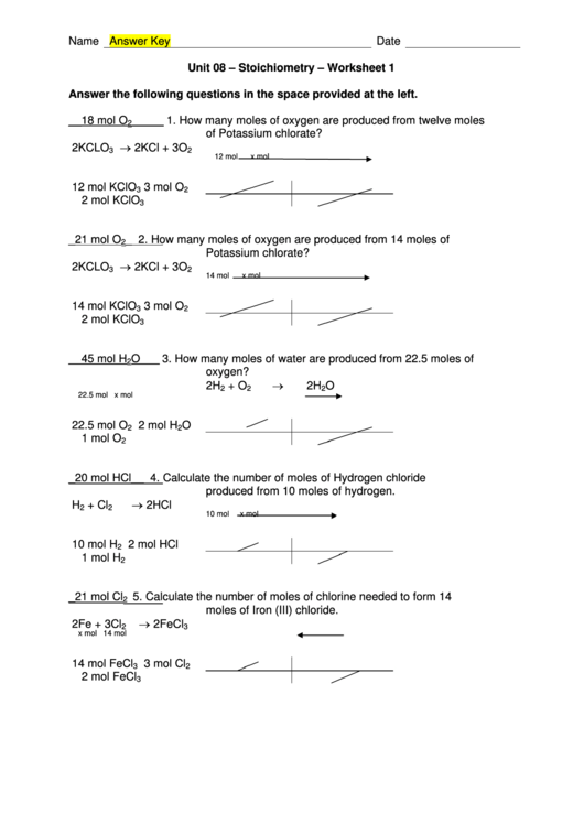 stoichiometry worksheet with answer key printable pdf download. Black Bedroom Furniture Sets. Home Design Ideas