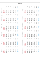 2025 Monthly Calendar Template