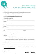 Slq Membership Parent/guardian Consent Form