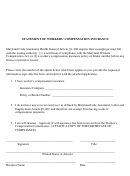 Statement Of Workers' Compensation Insurance Form