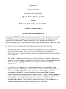 Student Acknowledgement Agreement Template - Dalhousie University