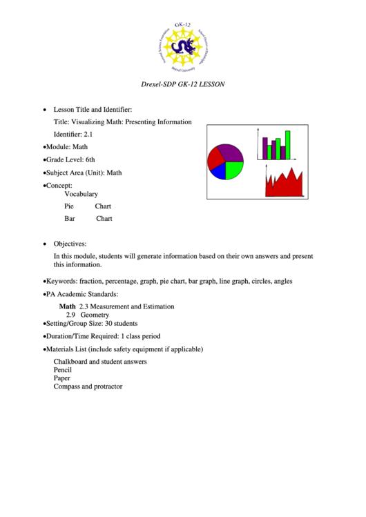 Visualizing Math Lesson Plan Template Printable Pdf Download