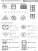 Basic Fractions Practice Worksheet Template