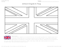United Kingdom Flag Coloring Page With Description