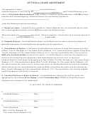 Option To Lease Agreement