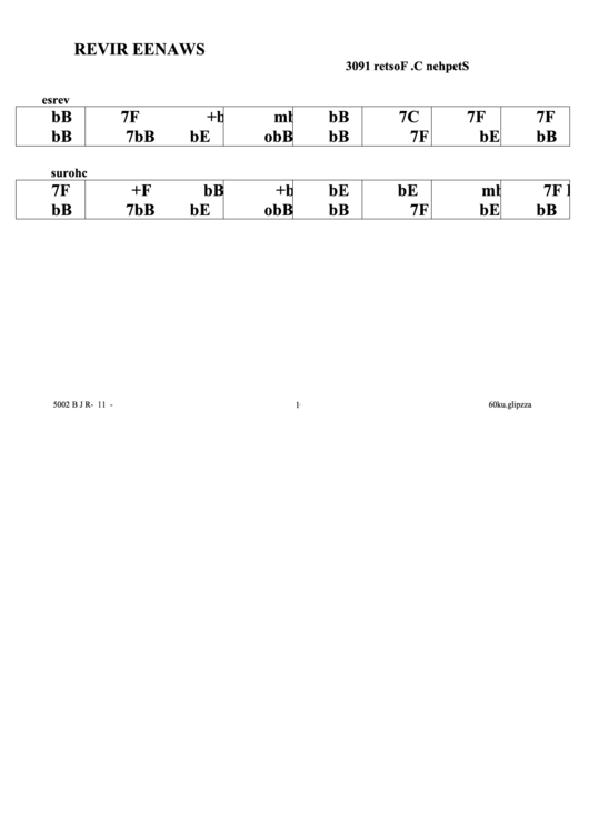 Stephen C. Foster - Swanee River Chord Chart
