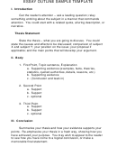 Essay Outline Sample Template