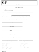 Form Cr2e071 - Statement Of Dissociation For Partnership