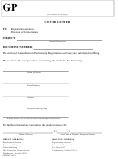 Form Cr2e067 - Amendment To Partnership Registration With Cover Letter - 2015
