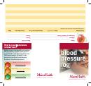 Blood Pressure Log With Medications