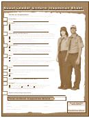 Scout Leader Uniform Inspection Sheet
