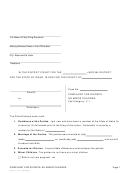 Complaint For Divorce No Minor Children