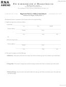 Registrant Name Or Affress Amendment - Commonwealth Of Massachusetts