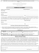 Form Nucs-4556 - Power Of Attorney - Department Of Employment, State Of Nevada