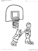 Dogs Playing Basketball Coloring Page - Tlsbooks