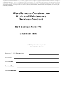 Miscellaneous Construction Work And Maintenance Services Contract