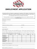 Tgi Fridays Employment Application
