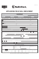 Application For At Will Employment