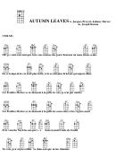 Autumn Leaves - W. Jacques Prevert, Johnny Mercer Chord Chart