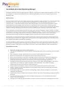 Social Media & Content Marketing Manager Job Description