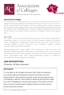 Job Description - Director Of Recruitment