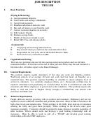Job Description Teller