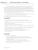 Technical Project Manager - Job Description