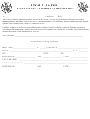 Local 22, I.a.t.s.e. Referral Fee Checkoff Authorization, Form W-4 - Employee's Withholding Allowance Certificate - 2015 And Referral Fee Checkoff Authorization