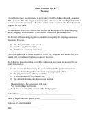 Parent Consent Form (sample)
