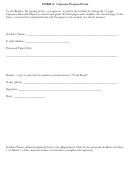Form A: Capstone Proposal Form