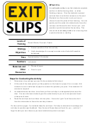 Knowledge Determination Exit Slip Templates