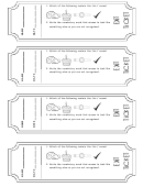 Exit Ticket Templates