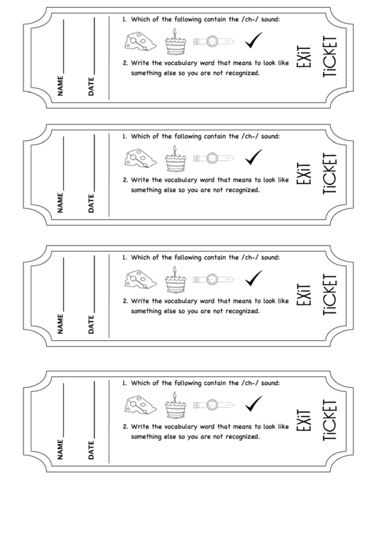 image relating to Exit Tickets Printable identify Exit Ticket Templates printable pdf down load