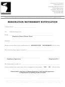 Resignation/retirement Notification