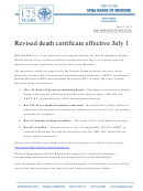 State Of Iowa Iowa Department Of Public Health Certificate Of Death