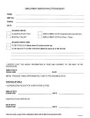 Employment Verification Letter Request