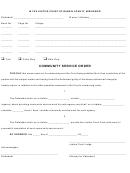 Community Service Order