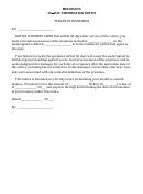 Minnesota 30-day Termination Notice Tenant In Possession