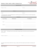 Employee Name And/or Address Change Form