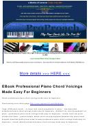 Professional Piano Chord